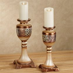 Dakarai Safari Candleholders Multi Metallic Set of Two