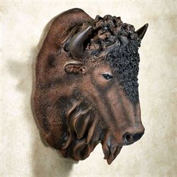 Buffalo Head Wall Art Brown