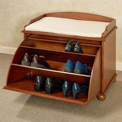 Ayden Wooden Shoe Storage Bench Windsor Oak