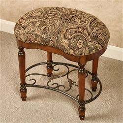 Shirley Vanity Stool Regal Walnut