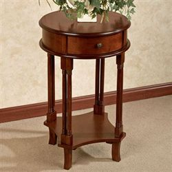 Shawna Round Accent Table Classic Cherry