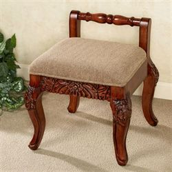 Victoriana Vanity Chair Natural Cherry