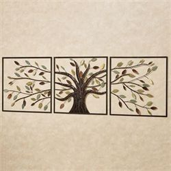 Ever Changing Tree Wall Art Multi Metallic Set of Three