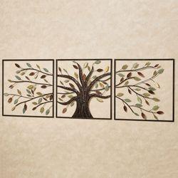 Ever Changing Tree Wall Art Multi Metallic Set of Three