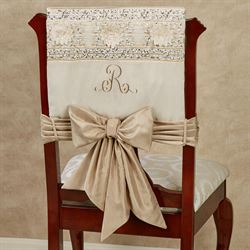 Elegante Chair Covers Light Cream Set of Two