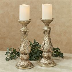 Calissa Candleholders Satin Gold Pair