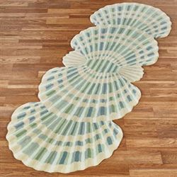 Clearwater Scallop Shell Rug Runner Multi Cool 28 x 8