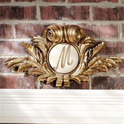 Monogram Medallion Wall Accent Gold
