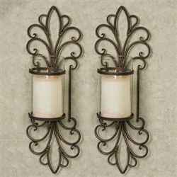 Simonetta Wall Sconces Antique Bronze Pair