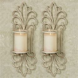 Simonetta Wall Sconces Creamy Gold Pair