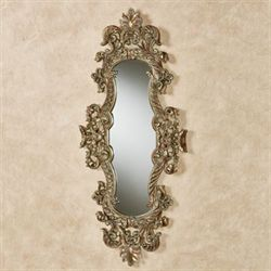 Palessia Wall Mirror Panel Burnished Silver