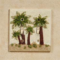 Palm Trees Double Switch Multi Earth