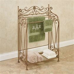 Kadalynn Bath Towel Rack Satin Gold