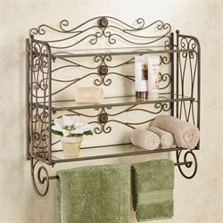 Kadalynn Wall Shelf with Towel Bar Antique Bronze