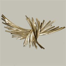 Infinity Gold Wall Sculpture