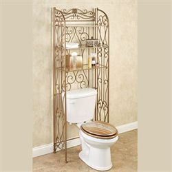 Kadalynn Bathroom Space Saver Satin Gold