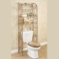 Kadalynn Bathroom Space Saver Satin Gold