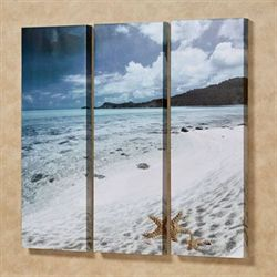 Paradise Beach Triptych Canvas Wall Art Multi Cool Set of Three