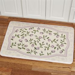 Enchanted Rose Cushioned Rectangle Mat Lavender 35 x 22