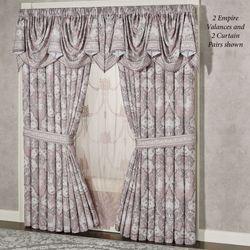 Marseille Lilac Empire Valance Window Treatment