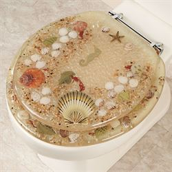 Jewel Shell Toilet Seat