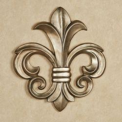Louis VII Fleur de Lis Wall Plaque Antique Gold