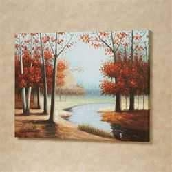 Woodland River Canvas Art Orange