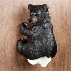 Stinkin Bear Toilet Paper Holder Black