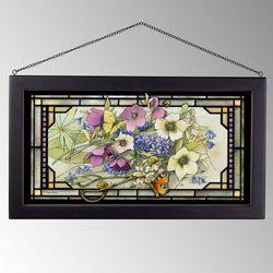 Gardeners Delights Window Art Panel Multi Pastel