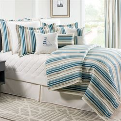 Savannah Stripe Mini Comforter Set Multi Cool