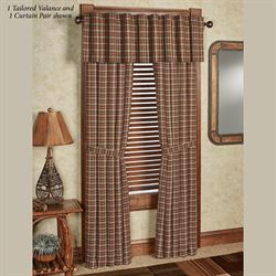 Crosswoods Curtain Pair Multi Warm
