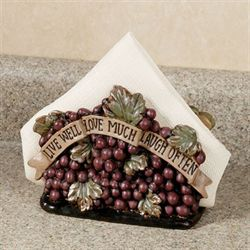 Live Love Laugh Grapes Napkin Holder