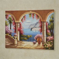 Paradise Awaits Canvas Wall Art Multi Pastel