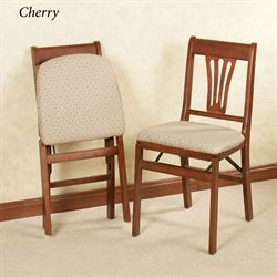 French Country Folding Chair Set  Set of Two
