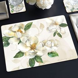 Magnolias Floral Hardboard Placemats Multi Cool Set of Four