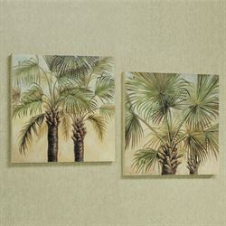 Palm Tree Tropical Wooden Wall Plaque Set & Tropical Wall Art | Touch of Class