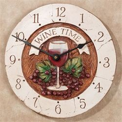 Wine Time Wall Clock