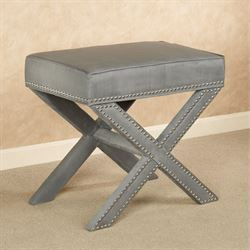 Lenora Accent Stool Gray