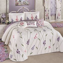 Wildflowers Grande Bedspread Ivory