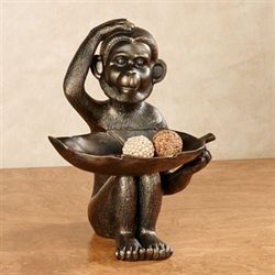 Innocent Chimp Table Sculpture Bronze