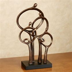 Cherished Family Table Sculpture Bronze