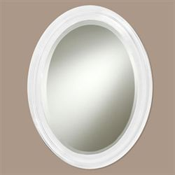 Loree White Wall Mirror