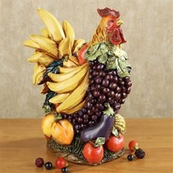 Fruitful Harvest Rooster Sculpture