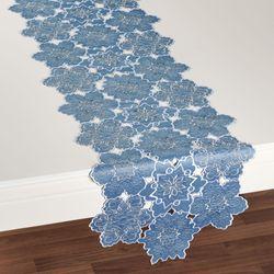 Snowfall Table Runner Celestial Blue 14 x 72