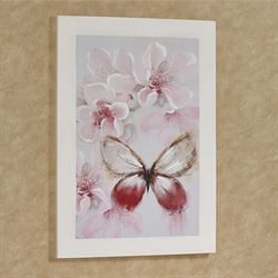 Butterfly Botanicals II Canvas Wall Art Pink