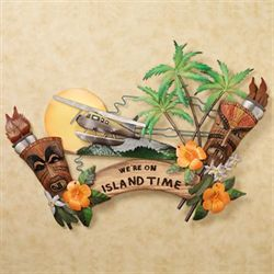 Were on Island Time Wall Accent
