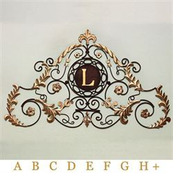 Bellmore Place Monogram Wall Grille Brown Gold