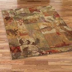 Autumn Allure Rectangle Rug Gold