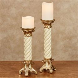 Genevia Candleholders Pearl Set of Two