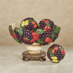 Tuscan Fruit Decorative Centerpiece Bowl Only Multi Jewel